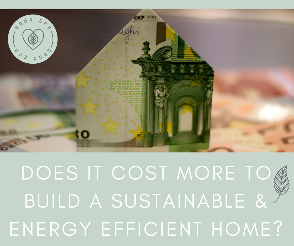 Does it cost more to build a sustainable energy efficient for Cost effective ways to build a house